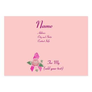 Breast Cancer Support Pack Of Chubby Business Cards