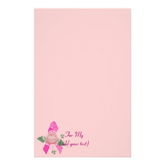 Breast Cancer Support Personalized Stationery