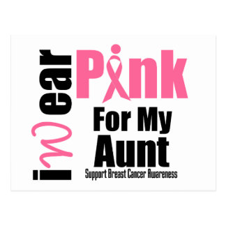 Breast Cancer Support Pink Ribbon Aunt Postcard