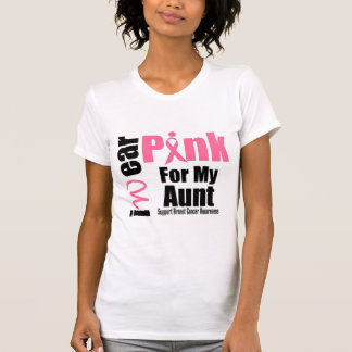 Breast Cancer Support Pink Ribbon Aunt T-Shirt