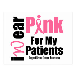 Breast Cancer Support Pink Ribbon Patients Postcard