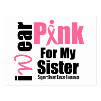 Breast Cancer Support Pink Ribbon Sister Postcard