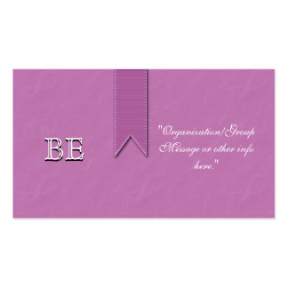 Breast Cancer Support Ribbon Business Cards