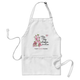 Breast Cancer Support Sister-in-Law Adult Apron
