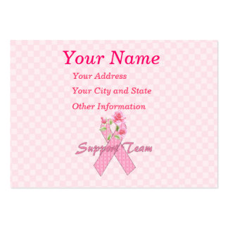 Breast Cancer Support Team Business Cards