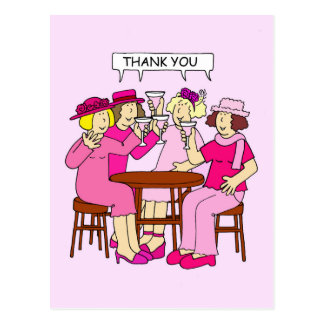 Breast Cancer Support, Thank you, ladies in pink. Postcard