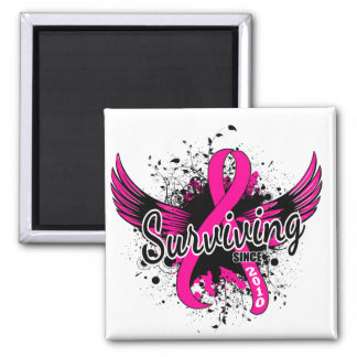 Breast Cancer Surviving Since 2010 Square Magnet