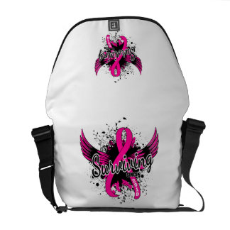 Breast Cancer Surviving Since 2016 Courier Bags