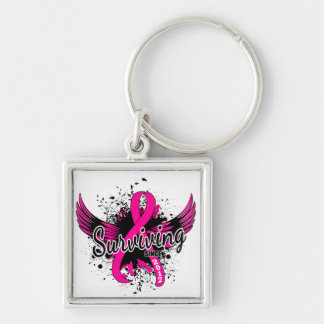 Breast Cancer Surviving Since 2017 Keychain