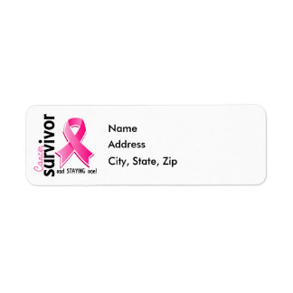 Breast Cancer Survivor 19 Return Address Label
