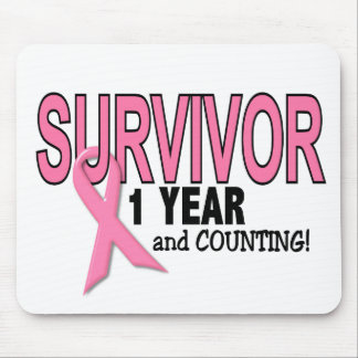 BREAST CANCER SURVIVOR 1 Year & Counting Mouse Pad