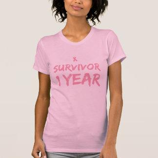 Breast Cancer Survivor 1 Year T-shirts