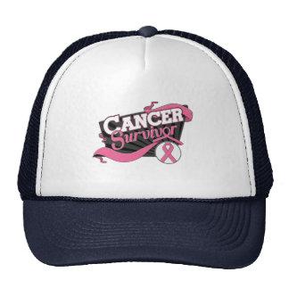 Breast Cancer Survivor Banner Mesh Hat