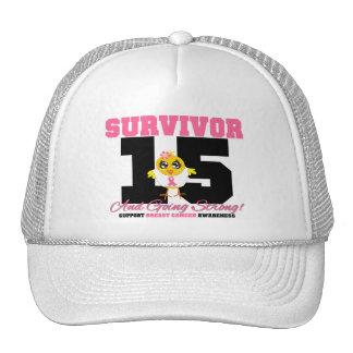 Breast Cancer Survivor Chick 15 Years Mesh Hats