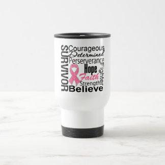 Breast Cancer Survivor Collage Stainless Steel Travel Mug