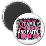 Breast Cancer Survivor Family Friends Faith Magnet