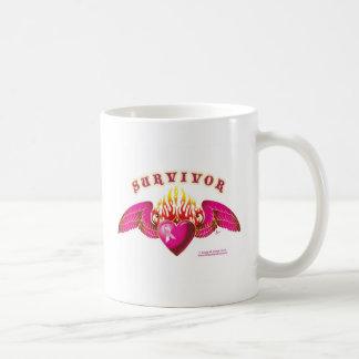 Breast Cancer Survivor Logo Mugs