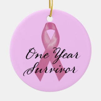 Breast Cancer Survivor Ornament One Year