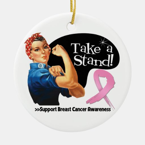 Breast Cancer Take a Stand Christmas Ornaments