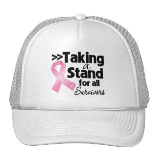 Breast Cancer Taking a Stand For All Survivors Mesh Hats