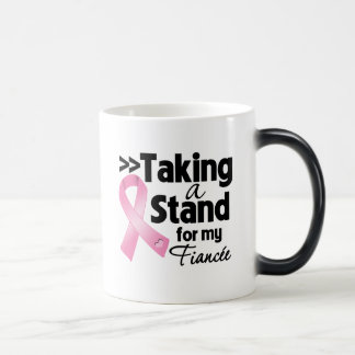 Breast Cancer Taking a Stand For My Fiancee Mugs