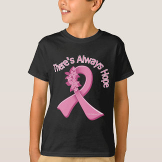 Breast Cancer There's Always Hope Floral T-Shirt