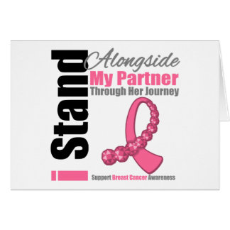 Breast Cancer Through Her Journey Partner Greeting Card