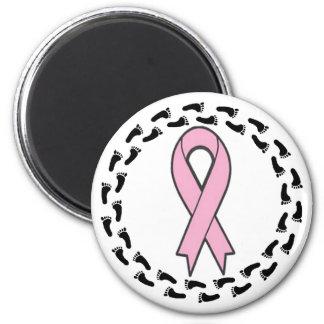 Breast Cancer Walk 6 Cm Round Magnet