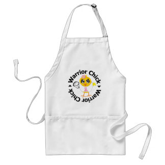 Breast Cancer Warrior Chick Standard Apron