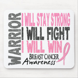 Breast Cancer Warrior Mouse Pad