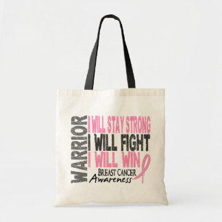 Breast Cancer Warrior Tote Bags