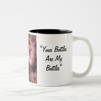 Breast Cancer Warriors Two-Tone Coffee Mug