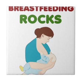 breast feeding mom rocks small square tile