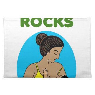 breast feeding Mother rocks Place Mats