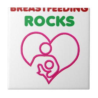 breast feeding rocks, mom with baby tile