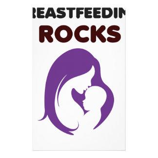 breast feeding rocks stationery