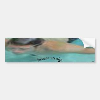 breast-stroke bumper sticker