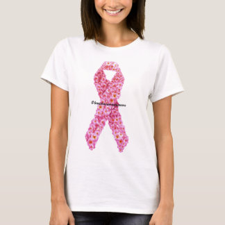 #breastcancerawareness Pink Bow of Flowers Support T-Shirt