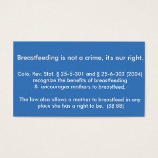 Breastfeeding Card Colorado