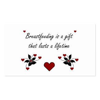 Breastfeeding is a Gift Pack Of Standard Business Cards