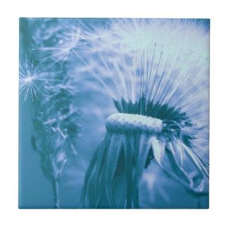 Breath flower blue tile