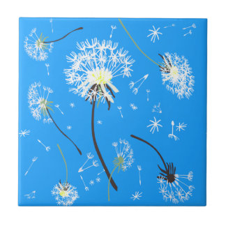 Breath flower, ceramic tile, blue small square tile