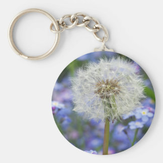 Breath flowers dream in blue forget-me-not blooms key ring