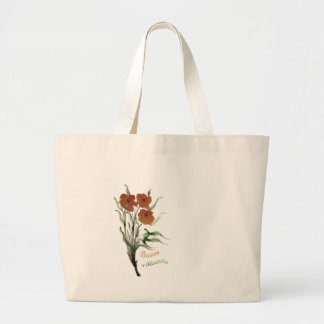 Breath of Flowers Large Tote Bag