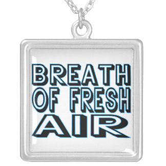 Breath Of Fresh Air Silver Plated Necklace