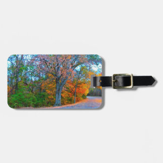 Breath-taking Autumn Day Getaway Tags For Luggage