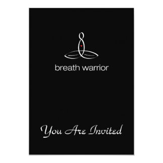 Breath Warrior - White Regular style 13 Cm X 18 Cm Invitation Card