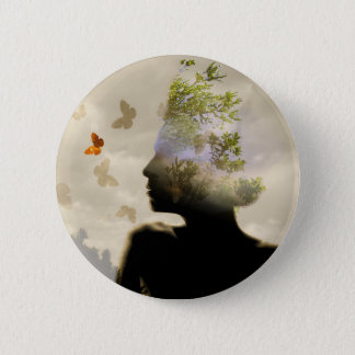 Breathe 6 Cm Round Badge
