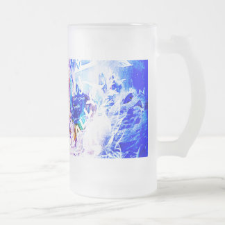Breathe Again Yule Dreams of the Ones that Love Us Frosted Glass Beer Mug
