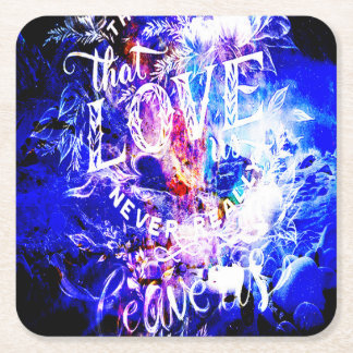 Breathe Again Yule Dreams of the Ones that Love Us Square Paper Coaster